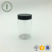 custom 200ml clear round plastic jar with screw cap for family food storage airtight cosmetic container