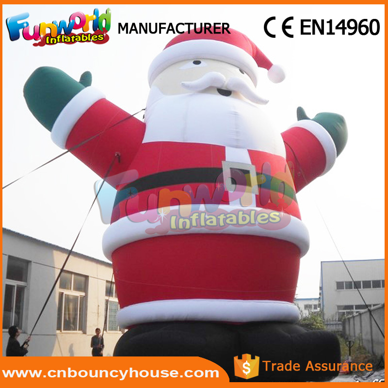Giant inflatable snow man air santa claus gemmy inflatables