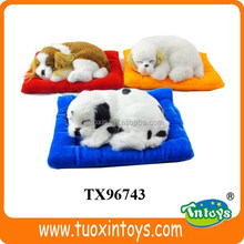 lifelike sleeping dog toy, sleeping breathing toy dog, toy sleeping dog looks real