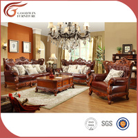 classic style reasonable hand carving leather A93 sofa