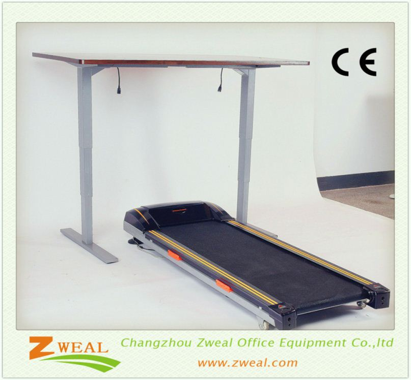 school desks metal frame high quality 3-leg ergonomic adjustable height executive desk reception
