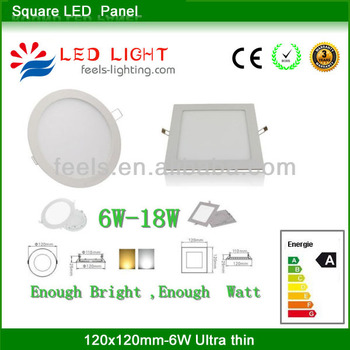 super bright 8 inch square led panel light