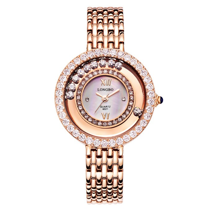 LongBo shenzhen watches supplies woman watch luxury geneva diamond quartz watches