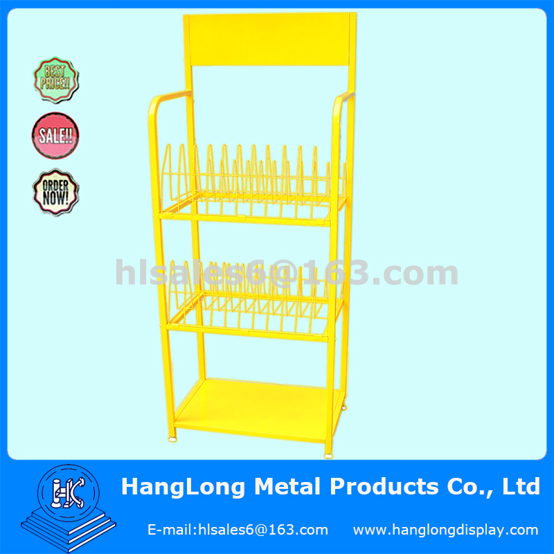 retail store 3 tier metal wire display