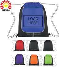 Modern style promotional 210D waterproof polyester nylon drawstring sport gym backpack bag