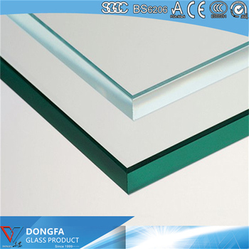 5-25mm full toughened glass rates with EN12150 certificated