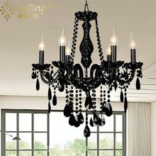 Black Wrought Iron Metal Chandelier