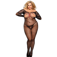 New Arrival open pussy net body stocking one piece nude women hot sell sexy transparent