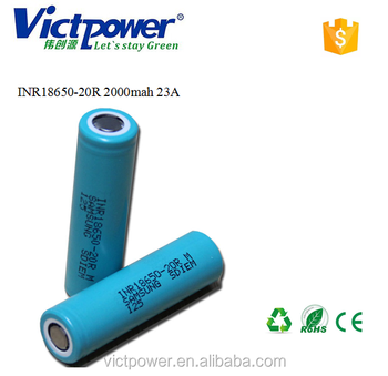 18650 ltihium battery INR18650-20R 2000mah 23A battery cell for samsung