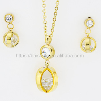 wholesale gold jewelry newest desigin crystal imitation ladies jewellery