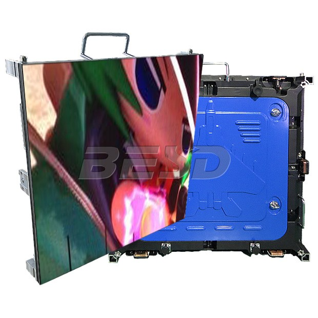 High brightness super slim cabinet led videowall full color P6 outdoor rental led display