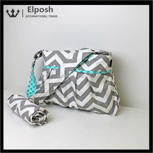 Wholesale Personalized Monogrammed Chevron Diaper Bag