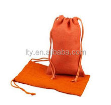 Fashion design wholesale small cotton canvas drawstring cosmetic bag