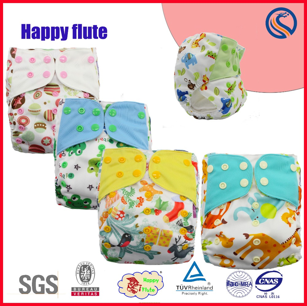 Happyflute new print night AIO sleepy baby diapers washable manufacture AI2 diapers