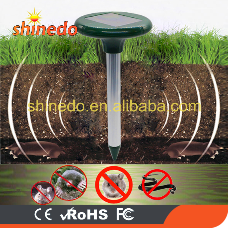 Ultrasonic Solar Powered Mole Repeller for Get Rid Of Mice Mole Mouse Snake for Lawn Garden Yards