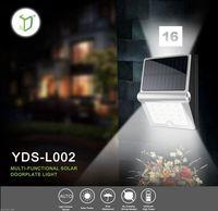 Yardshow Exclusive Solar Power Waterproof PIR Motion sensor outdoor lighting wall mount
