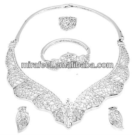 solid silver 925 indian jewelry set fashion bridal jewelry set cheap wholesale jewelry in bulk