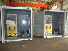 Portable skid mounted container mobile fuel station exported to South Africa