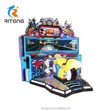 three screen motor arcade game machine motorcycle coin operated driving racing simulator game machine