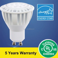 UL&Energy Star(ES) Listed GU10 LED Lamp Bulb Lighting 7.5W 600lm CRI>80 5 years warranty