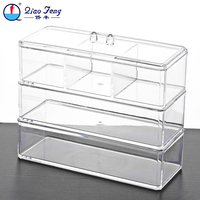 nail polish display stand cosmetic 3 tiers makeup storage organizer box