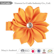 Diamond mix colors kids baby flower hair clip for bulk sale