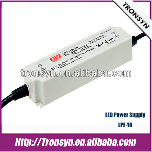 MeanWell Power Supply LPF-40-24(40W/24V) LED Driver,Switching Power Supply With Active PFC Function