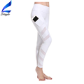 Lotsyle Mesh Insert White Yoga Pants Women Running Leggings with Side Pockets