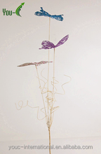 Twig Art Tree Branch Butterfly -champagne and purple color