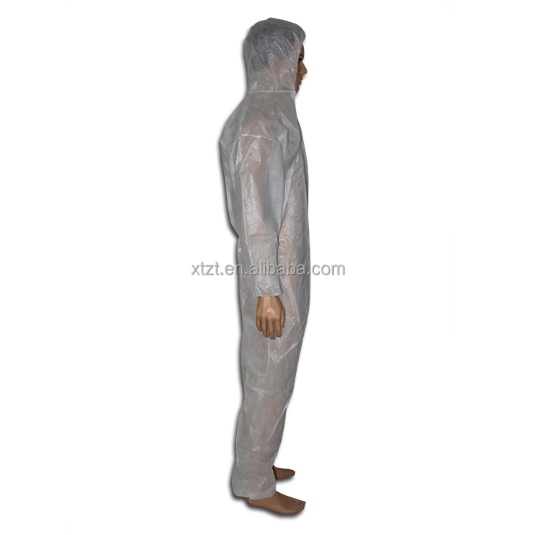 Disposable Breathable Coverall Waterproof with Hood