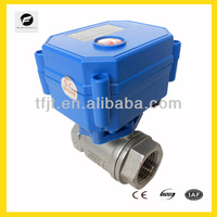 "CWX-15N 1/2"" stainless steel 304 Motor electric Shut Off Ball Valve for drinking water auto control pipe system"