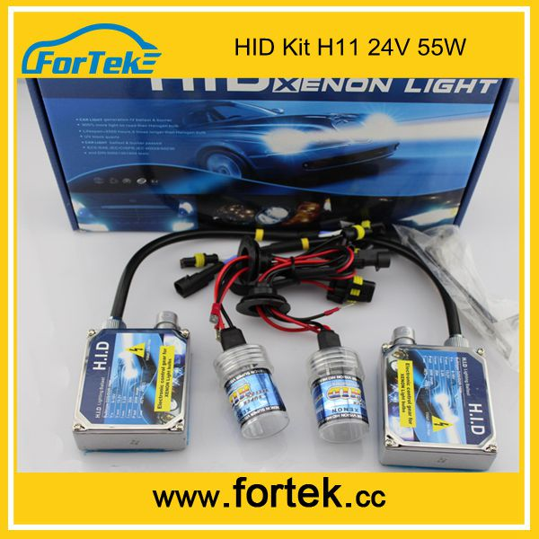 Car Headlight regular HID Kits H11 55W HID Xenon bosch Kit 24V AC for trucks