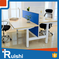 Office Standing Electric Height Monitor Office Desk With Locking Drawers