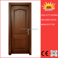 SC-W128 Cheap Wood Flush Door Price, Simple Modern Teak Wood Main Door Design
