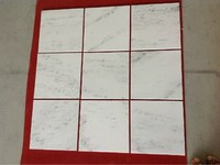 Lowest price hot sales custom white floor marble stone