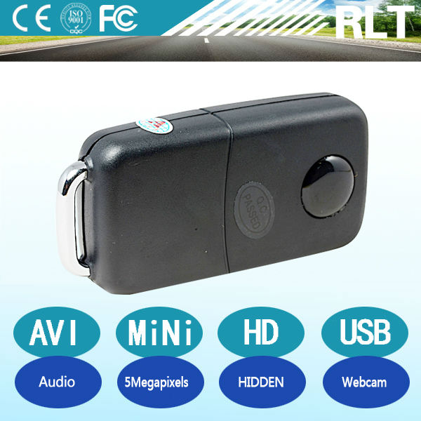 HD 5mp CMOS 1280*960 30fps AVI mini keychain hidden digital 808 camera USB interface chargeable car key audio video recoder dvr