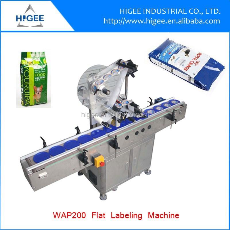 plastic bag labeling machine