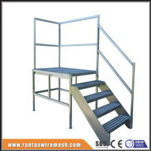 Prefab portable metal deck house design aluminum exterior stairs