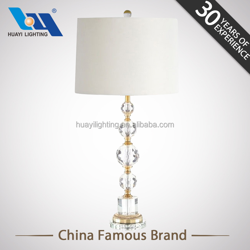 Hot sale decoration lighting LED light CE ROHS home goods crystal table lamps for bedroom