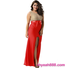 New style nice design long dress women red party evening dress