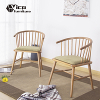 hot selling popular chair beauty design wood furniture with cushion