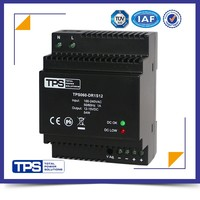 shanghai TPS CE ROHS 60w power supply input ac 85~264v dc 12v din rail power supply