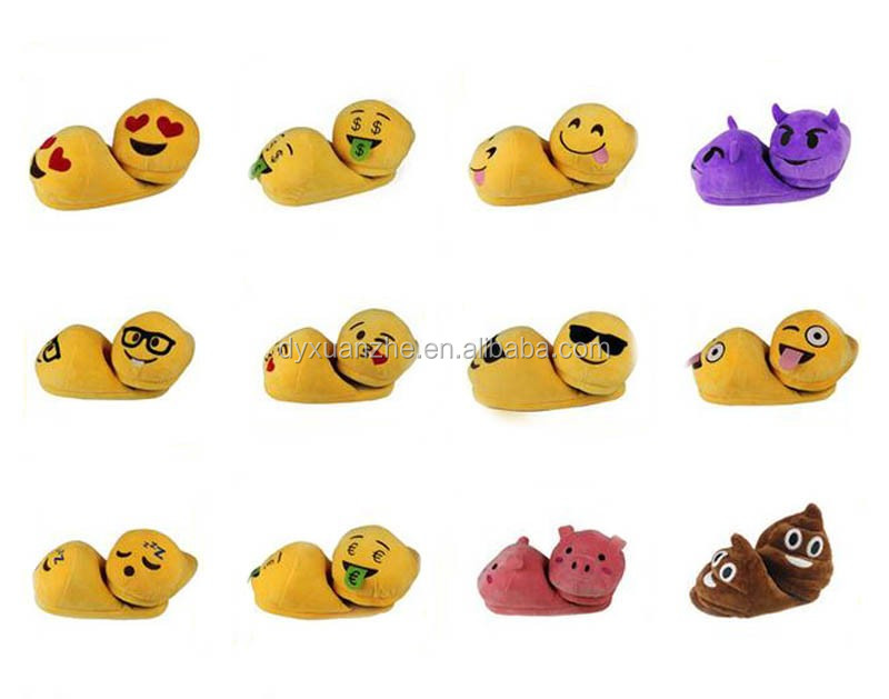 PP Cotton Very Cheap Emoji Slippers