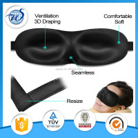 Travel Rest 3D Sponge EyeShade Sleeping Eye Mask Blindfolds For Health Care To Shield The Light Black
