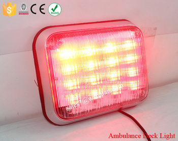 Emergency LED Ambulance Warning Light/Flash Strobe Security LED Light/12V 24V LED Red Signal Light TBF-830E