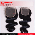 Vipsister Hair bohemian hair lace closure ombre hair extension lace closure