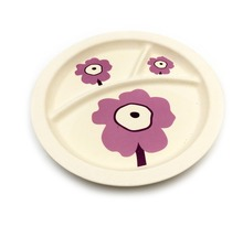Biodegradable plant fiber kids dinner plate dishes, kids plates