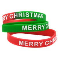 Wholesale Merry Christmas Silicon Wristband Bracelet for Give Away Gift
