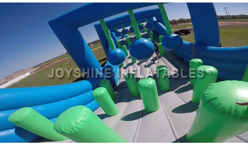 Outdoor Giant Adult 5K Wipeout Big Balls Challenge Commercial Inflatable Run Race Obstacle Assault Course Tunnel Equipment