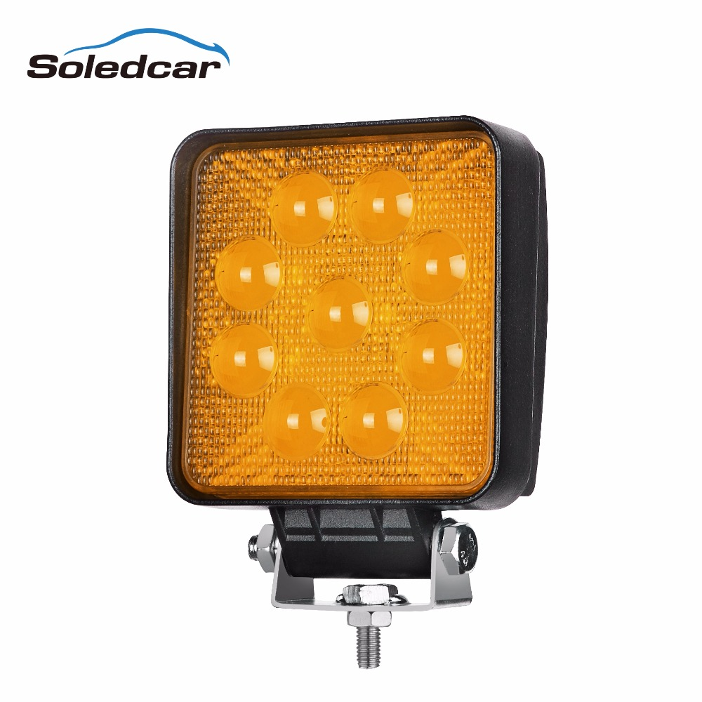 5D 27W Amber LED Work Light 4x4 <strong>10</strong>-30v Work Light